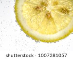 lemon drop in fizzy sparkling... | Shutterstock . vector #1007281057