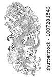 japanese tattoo design full... | Shutterstock .eps vector #1007281543