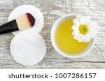 small white bowl with cosmetic... | Shutterstock . vector #1007286157