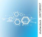 minimal design  the hexagonal... | Shutterstock .eps vector #1007289037