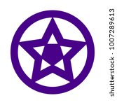 vector star icon in circle... | Shutterstock .eps vector #1007289613