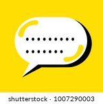 bubble speech vector icon | Shutterstock .eps vector #1007290003