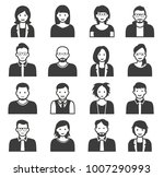 collection of cartoons   human... | Shutterstock .eps vector #1007290993