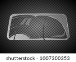 two wiper cleans the windshield.... | Shutterstock .eps vector #1007300353