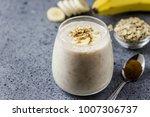 healthy coffee banana oat... | Shutterstock . vector #1007306737
