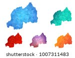 variety color polygon map on... | Shutterstock .eps vector #1007311483