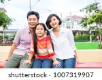 asian family happiness together ... | Shutterstock . vector #1007319907
