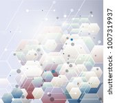 abstract hexagon background.... | Shutterstock .eps vector #1007319937