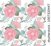 spring flower seamless pattern... | Shutterstock .eps vector #1007320447