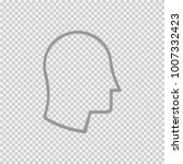 head in profile vector icon eps ... | Shutterstock .eps vector #1007332423