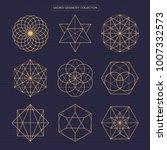 sacred geometry vector design... | Shutterstock .eps vector #1007332573