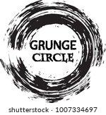 vector grunge circle. grunge... | Shutterstock .eps vector #1007334697