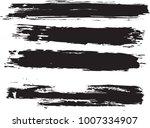 set of grunge brush strokes     Shutterstock .eps vector #1007334907