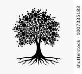 abstract vibrant tree logo... | Shutterstock .eps vector #1007335183