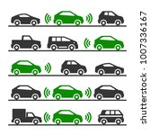 smart car with sensors and... | Shutterstock .eps vector #1007336167