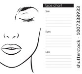 beautiful woman portrait. face... | Shutterstock .eps vector #1007338933