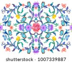 colorful arabesque with floral... | Shutterstock . vector #1007339887