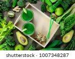 detox green smoothies concept ...   Shutterstock . vector #1007348287