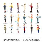 profession men set. police and... | Shutterstock .eps vector #1007353003