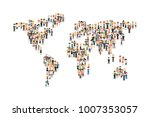 world map from people's crowd... | Shutterstock .eps vector #1007353057
