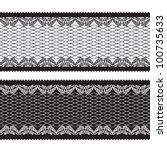 seamless lacy ribbon   Shutterstock .eps vector #100735633