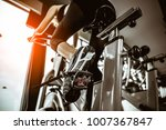 fitness woman working out on... | Shutterstock . vector #1007367847