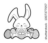 happy easter design   Shutterstock .eps vector #1007377057