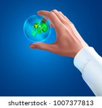 hand of a scientist in white... | Shutterstock .eps vector #1007377813