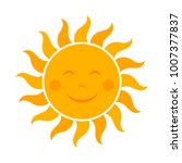 smiling sun icon illustration   Shutterstock .eps vector #1007377837