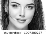 woman face young beautiful... | Shutterstock . vector #1007380237