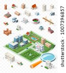 build your own isometric city . ... | Shutterstock .eps vector #1007396857