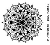 mandalas for coloring book.... | Shutterstock .eps vector #1007408563