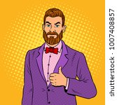 stylish man with beard showing... | Shutterstock .eps vector #1007408857