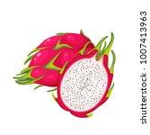 summer tropical fruits for... | Shutterstock .eps vector #1007413963