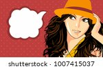 illustration of young beautiful ... | Shutterstock .eps vector #1007415037