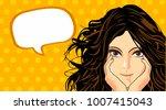 surprised beautiful woman.... | Shutterstock .eps vector #1007415043
