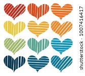 abstract hearts paint stripe... | Shutterstock .eps vector #1007416417