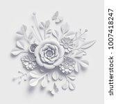 3d rendering  white paper... | Shutterstock . vector #1007418247