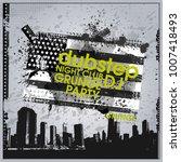 background for poster in grunge ... | Shutterstock .eps vector #1007418493