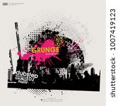 template colour grunge the... | Shutterstock .eps vector #1007419123