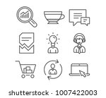 set of shipping support ... | Shutterstock .eps vector #1007422003