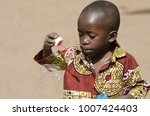 handsome african baby boy... | Shutterstock . vector #1007424403