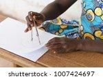 beautiful african black girl as ... | Shutterstock . vector #1007424697
