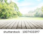 empty wooden table with party...   Shutterstock . vector #1007433397