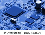 electronic circuit board close... | Shutterstock . vector #1007433607