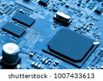 electronic circuit board close... | Shutterstock . vector #1007433613