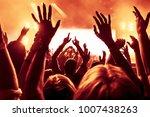 concert crowd at rock concert | Shutterstock . vector #1007438263