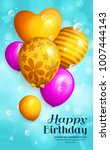 bunch of birthday yellow and... | Shutterstock .eps vector #1007444143