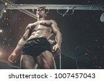 brutal strong bodybuilder... | Shutterstock . vector #1007457043
