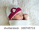 Sleeping Newborn Wearing...